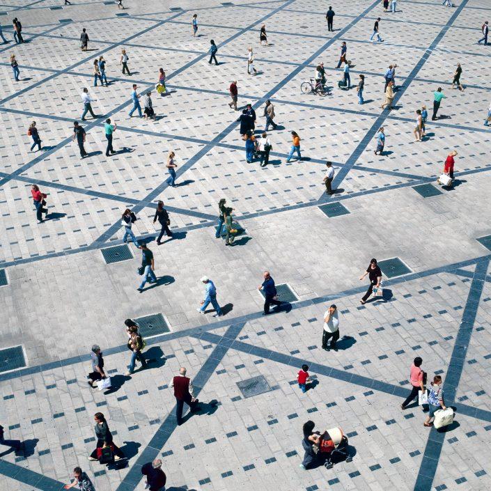 City square, full
