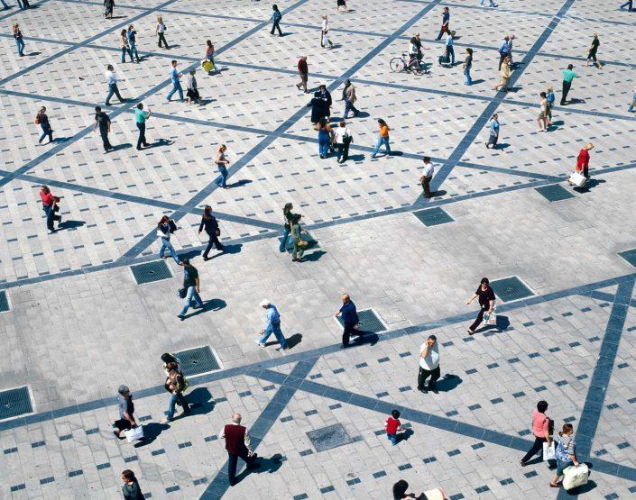 Πλατεία, γεμάτη