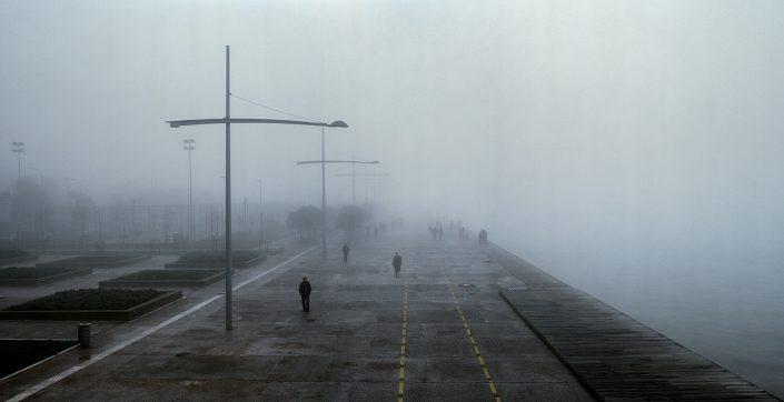 Seafront fog, Thessaloniki