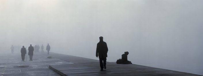 Seafront, fog, Thessaloniki