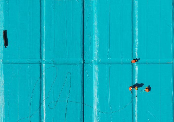 Canal, waterproofing membrane