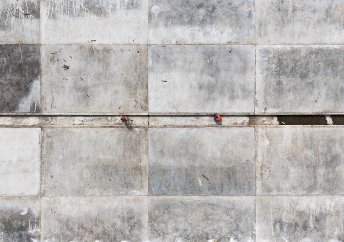 Canal bottom concrete