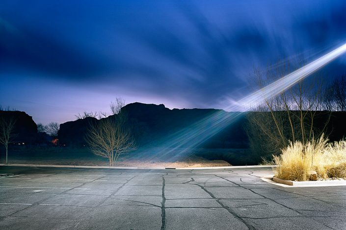 Motel parking in Moab, Utah